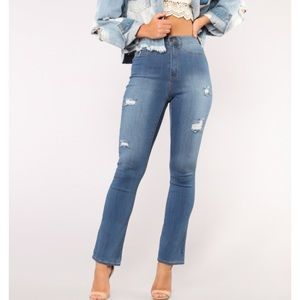 Fashion Nova Follow your bliss flare Jeans